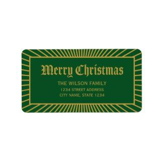 Grenze-dekorative frohe Weihnacht-Adresse Adressaufkleber