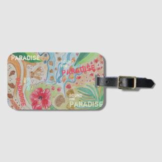 Grenze für Paradies Gepäckanhänger