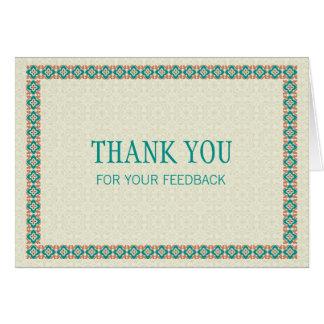 Grenzen u. Muster 3 danken Ihnen für Ihr Feed-back Karte