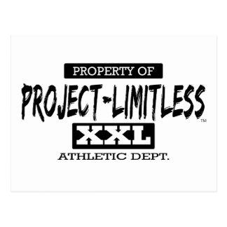 Grenzenlose XXL athletische Abt. des Projekt- Postkarte