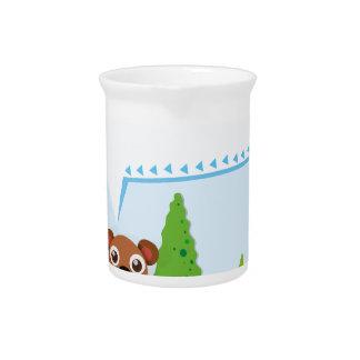 Grenzentwurfseichhörnchen und -eichel getränke pitcher