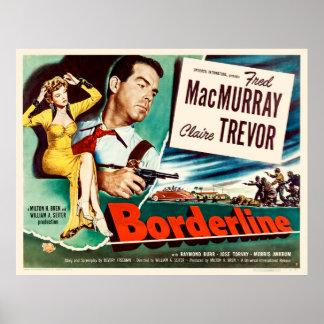 Grenzlinie - Vintages Film-Plakat 1950