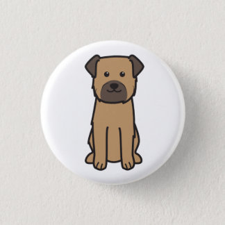 Grenzterrier-HundeCartoon Runder Button 3,2 Cm