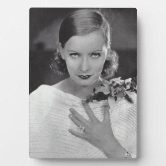Greta Garbo-Tischplatte-Plakette Fotoplatte