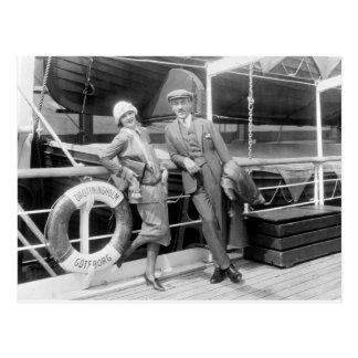 Greta Garbo und Mauritz ruhigeres 1925 Postkarte