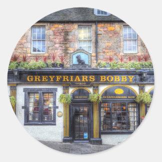 Greyfriars Bobby Kneipe Edinburgh Runder Aufkleber