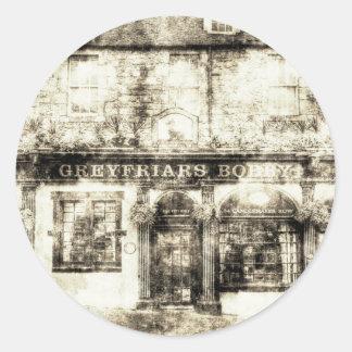 Greyfriars Bobby Pub Edinburgh Vintag Runder Aufkleber