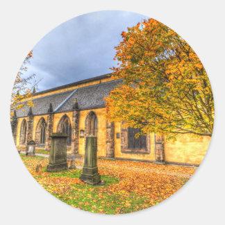 Greyfriars Kirche-Kirche Edinburgh Runder Aufkleber