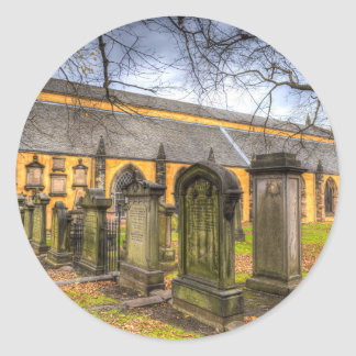 Greyfriars Kirche-Kirche Runder Aufkleber