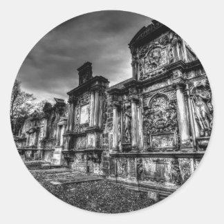Greyfriars Kirk Friedhof Edinburgh Runder Aufkleber