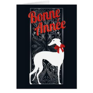 Greyhounden-Glückwunschkarte feiert Karte