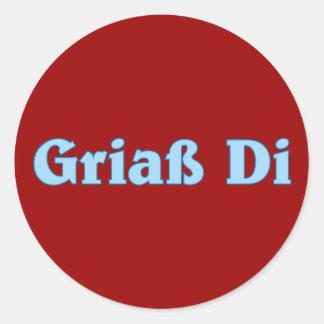 Griaß Di Gruß greeting Bayern bayrisch bayerisch Runder Aufkleber