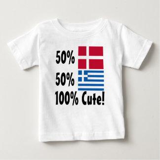 Grieche 100% 50% Dänische-50% niedlich Baby T-shirt