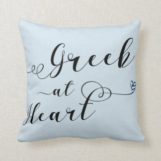Grieche am Herz-Wurfs-Kissen, Griechenland Kissen