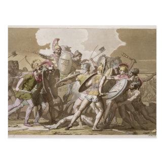 Grieche-und Trojan-Kampf über dem Körper von Postkarte