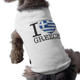 Griechenland Ärmelfreies Hunde-Shirt