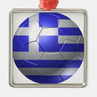 Griechenland-Ball Silbernes Ornament