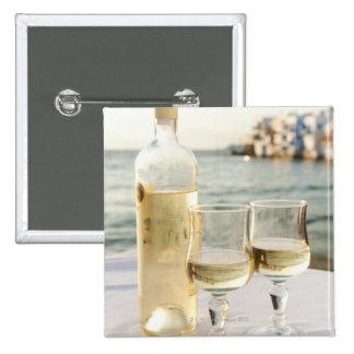 Griechenland, die Kykladen-Inseln, Mykonos, Wein Quadratischer Button 5,1 Cm