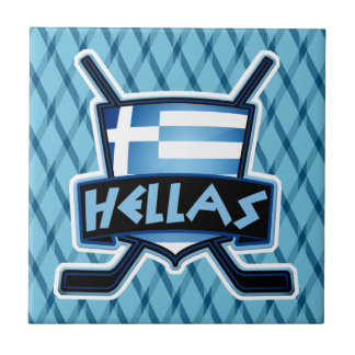 Griechenland-Eis-Hockey-Flaggen-Logo-Fliese Keramikfliese