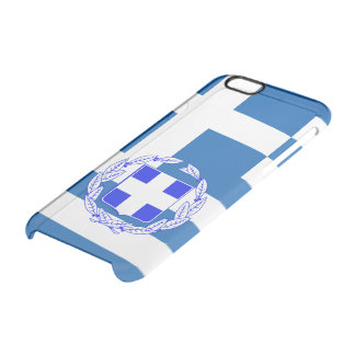 Griechenland-Flagge Durchsichtige iPhone 6/6S Hülle
