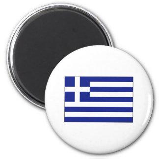 Griechenland-FLAGGE International Runder Magnet 5,1 Cm