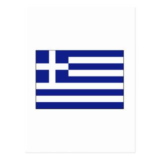 Griechenland-FLAGGE International Postkarte