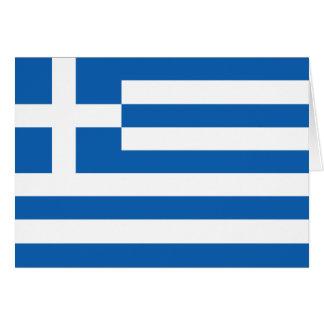 Griechenland-Flagge Grußkarten