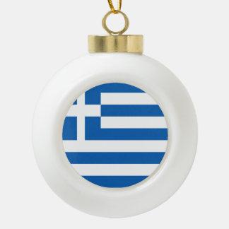 Griechenland-Flagge Keramik Kugel-Ornament