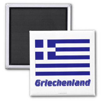 Griechenland Flagge MIT Namen