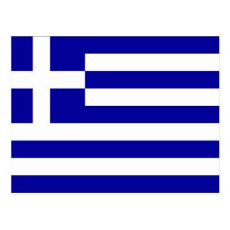Griechenland-Flagge Postkarte