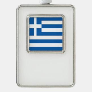 Griechenland-Flagge Rahmen-Ornament Silber