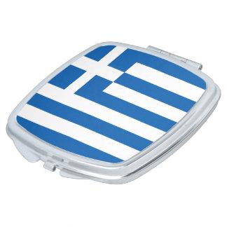 Griechenland-Flagge Taschenspiegel
