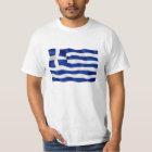 Griechenland-Flagge - Wert-T - Shirt