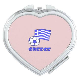 Griechenland-Flaggen-Fußball Schminkspiegel