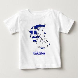 GRIECHENLAND-FLAGGEN-KARTE BABY T-SHIRT