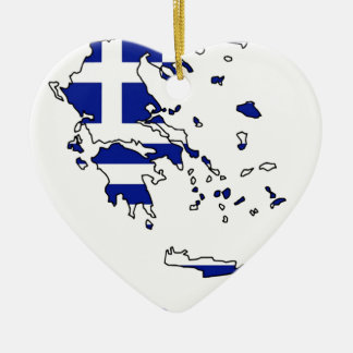 GRIECHENLAND-FLAGGEN-KARTE KERAMIK ORNAMENT