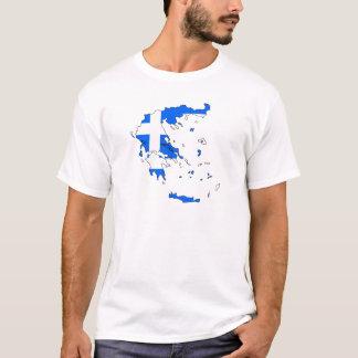 Griechenland-Flaggenkarte T-Shirt