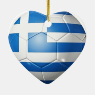 GRIECHENLAND-FUSSBALL-FLAGGE KERAMIK ORNAMENT