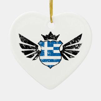 Griechenland-Fußball Keramik Ornament