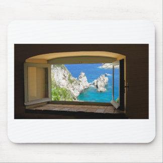 Griechenland in einem Fenster Mousepad