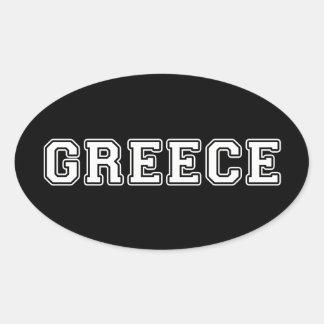Griechenland Ovaler Aufkleber