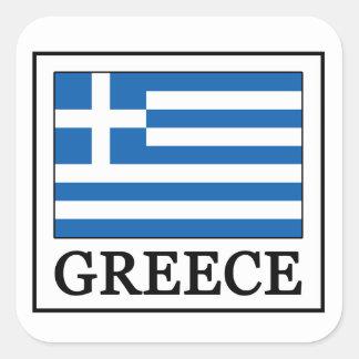 Griechenland Quadratischer Aufkleber