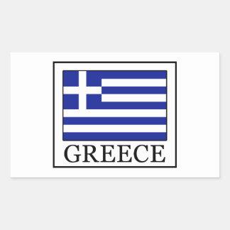Griechenland Rechteckiger Aufkleber