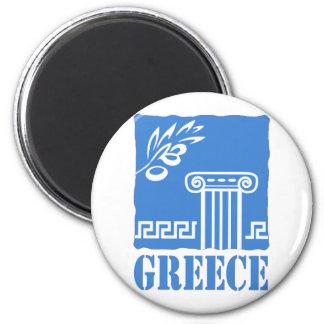 Griechenland Runder Magnet 5,1 Cm