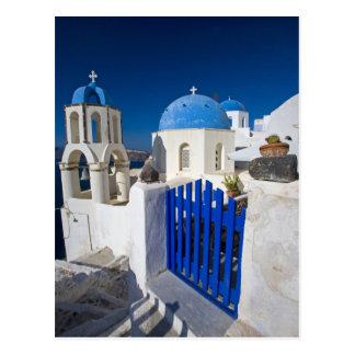 Griechenland und griechische Insel von Santorini Postkarte
