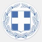 Griechenland-Wappen GR Runder Aufkleber