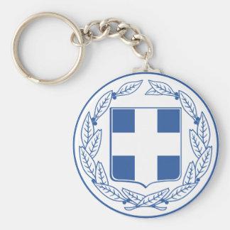 Griechenland-Wappen GR Standard Runder Schlüsselanhänger