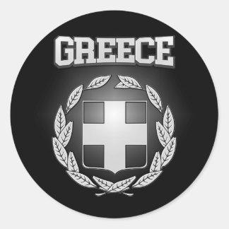 Griechenland-Wappen Runder Aufkleber