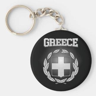 Griechenland-Wappen Standard Runder Schlüsselanhänger