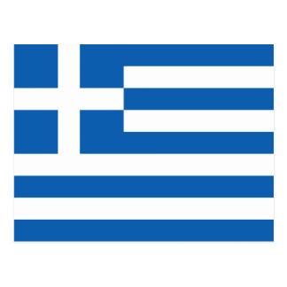 Griechenlands Flagge Postkarte